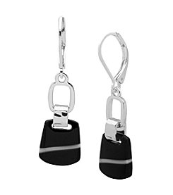 Nine West® Silvertone Double Drop Earrings