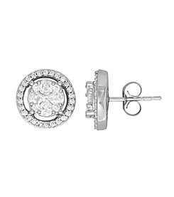 14K White Gold 1.00 ct. t.w. Diamond Stud Earrings