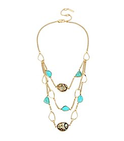 Kenneth Cole® Goldtone Simulated Turquoise And Reconstituted Shell Necklace