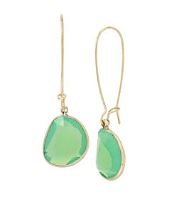 Kenneth Cole® Goldtone Stone Drop Earrings