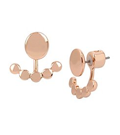Kenneth Cole® Rose Goldtone Front Back Earrings