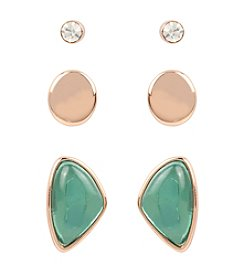 Kenneth Cole® Three Pair Earrings Set