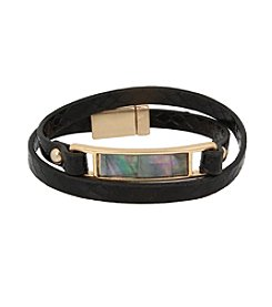 Kenneth Cole® Goldtone Mother Of Pearl ID Wrap Bracelet