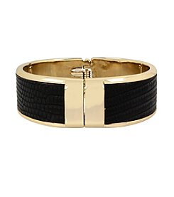 Kenneth Cole® Goldtone Snakeprint Hinged Bracelet