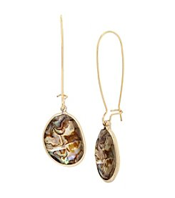 Kenneth Cole® Abalone Stone Drop Earrings