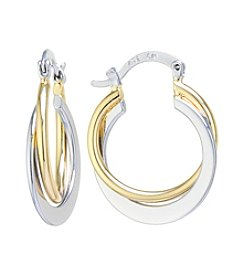 Athra Double Crossover Hoop Boxed Earrings