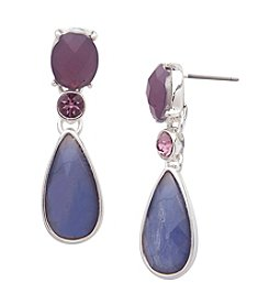 Anne Klein® Silvertone Multi Drop Earrings
