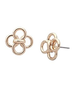 Anne Klein® Goldtone Four Circle Stud Earrings