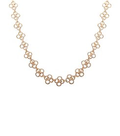 Anne Klein® Goldtone Multi Circle Collar Necklace