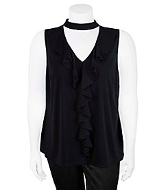A. Byer Plus Size Ruffled Tank Top