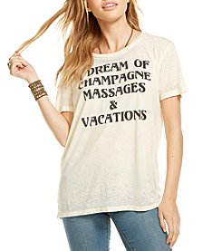 Chaser® Dream Of Champagne And Massages Tee