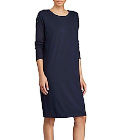 Lauren Ralph Lauren® Button Shoulder Dress