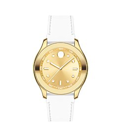 Movado® BOLD Women's Swiss White Silicone Strap Watch