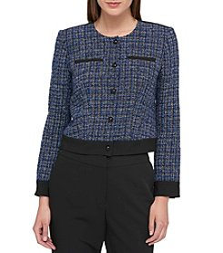 Tommy Hilfiger® Tweed Button Front Jacket