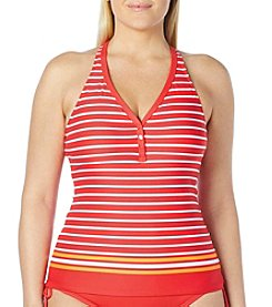 Beach House® Plus Size Claire Racer Tankini