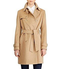 Lauren Ralph Lauren® Belted Wool Trench Coat