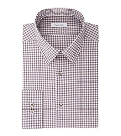 Calvin Klein Men's Non Iron Stretch Slim Fit Check Dress Shirt