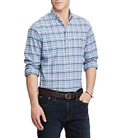 Polo Ralph Lauren® Men's Standard Fit Plaid Oxford Shirt