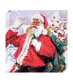 Living Quarters Santa with Toys Canvas Wall Art
