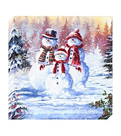Living Quarters Three Snowmen Canvas Wall Art