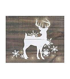 Living Quarters Deer LED-Accented Holiday Wall Art