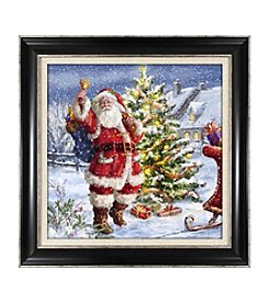 Living Quarters Santa With Decorated Tree Wall Art