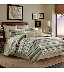 Tommy Bahama Canvas Stripe Bedding Collection Bundle