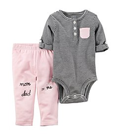 Carter's Baby Girls' 2 Piece Bodysuit And Pants Set