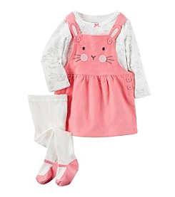 Carter's® Baby Girls' 3-Piece Tee & Bunny Jumper Set