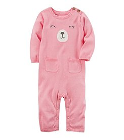 Carter's® Baby Girls' Bear Sweater Jumpsuit