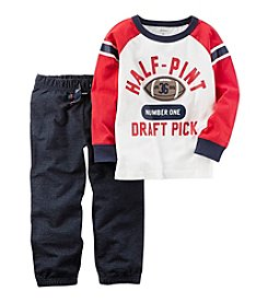 Carter's® Baby Boys' 2-Piece Athletic Raglan Tee & French Terry Jogger Set