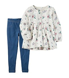 Carter's® Baby Girls' 2-Piece Floral Tunic & Jeggings Set