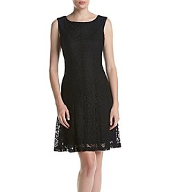 Connected® Lace Fit and Flare Dress
