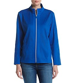Alfred Dunner® Cut Out Zip Jacket