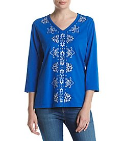 Alfred Dunner® Embroidered Tee