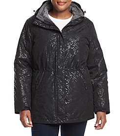 Below Zero Plus Size Printed 3-in-1 Systems Coat