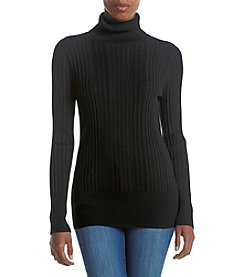 Relativity® Ribbed Turtleneck Sweater