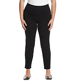 Relativity® Plus Size Denim Jean Leggings