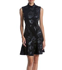 Ivanka Trump® Scuba Flutter Hem Dress