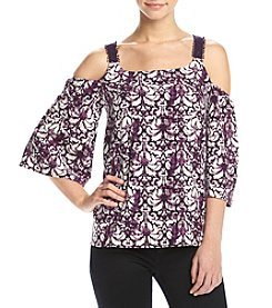 Kensie® Baroque Print Off-Shoulder