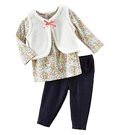 Carter's Baby Girls' Floral Shirt & Vest Set