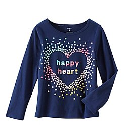 Carter's Girls' 4-8 Long Sleeve Happy Heart Tee