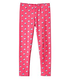 Carter's Girls' 4-8 Pink Foil Heart Leggings
