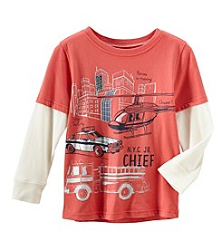 Carter's Boys' 4-8 Long Sleeve Firetruck Tee