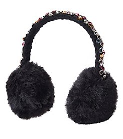 Betsey Johnson® Bejeweled Faux Fur Earmuffs