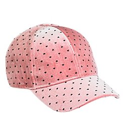 Betsey Johnson® Velvet Sweetheart Baseball Hat