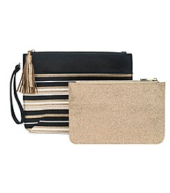 Tricoastal Glitter Stripe 2-Pc. Pouch Set