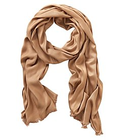 Collection 18 Brown Oversized Satin Scarf