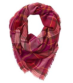 Collection 18 Plaid Burst Square Scarf
