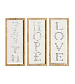 New View Faith Hope Love Three Piece Sign Set